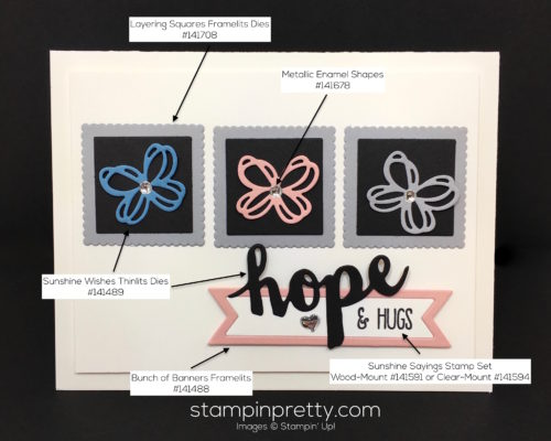 Stampin Up Sunshine Sayings Wishes Sympathy Cards Idea - Mary Fish StampinUp Supply List