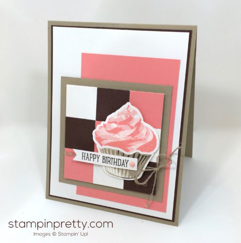 Stampin Up Sweet Cupcakes Cutouts Framelits Birthday Card Ideas - Mary Fish StampinUp
