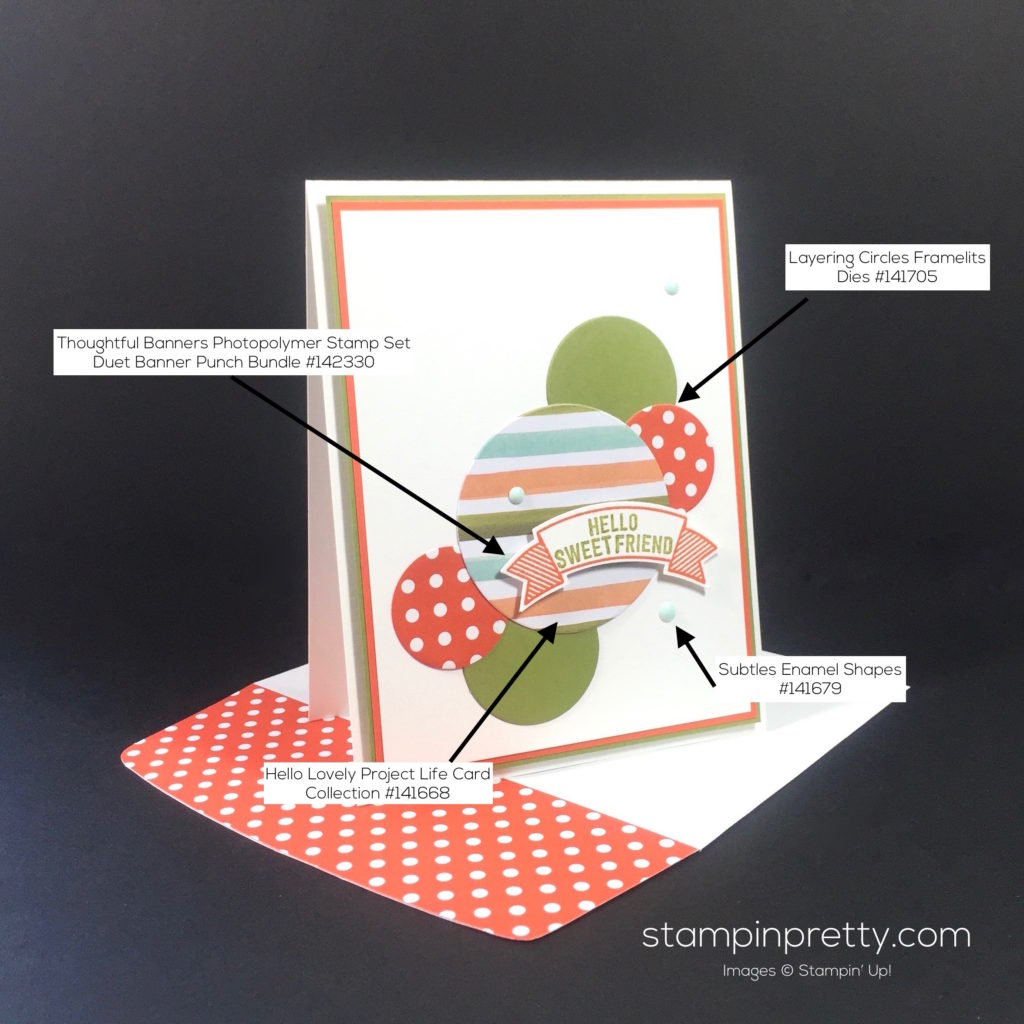 Stampin Up Thoughtful Banner Card Idea - Mary Fish Stampinup