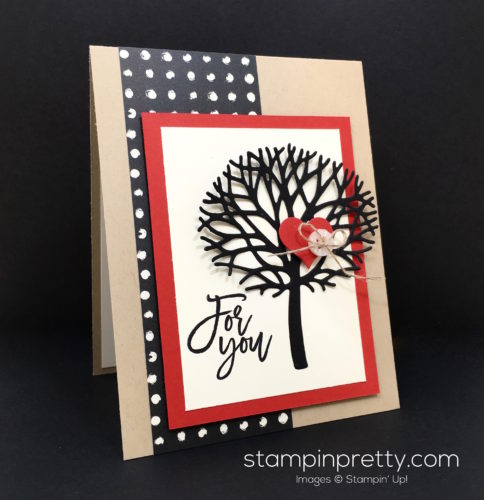 Stampin Up Thoughtful Beautiful Branches Love Card Idea - Mary Fish StampinUp