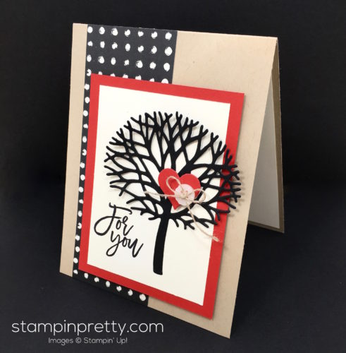 Stampin Up Thoughtful Beautiful Branches Love Cards Idea - Mary Fish StampinUp