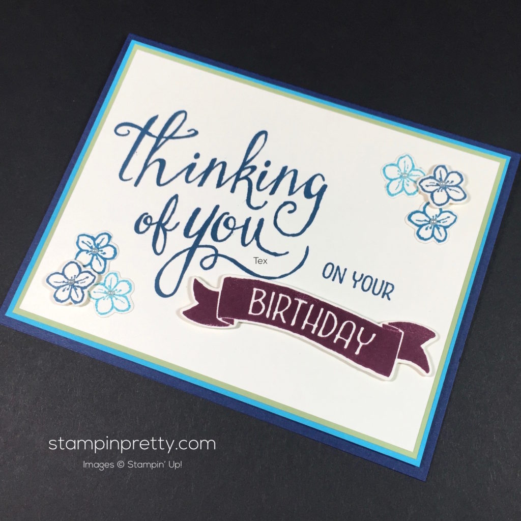 Time of year birthday card idea stampin 39 pretty for Mary fish stampin up