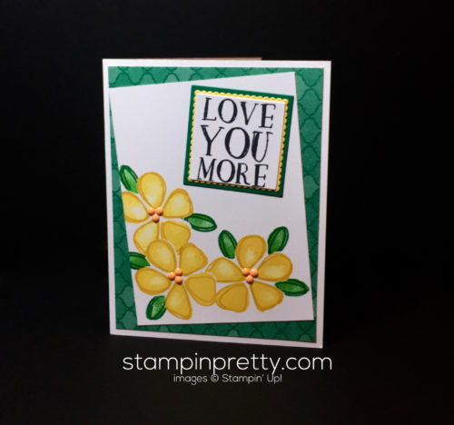 Stampin up, Fresh Fruit, Love card idea - Mary Fish, Stampinup
