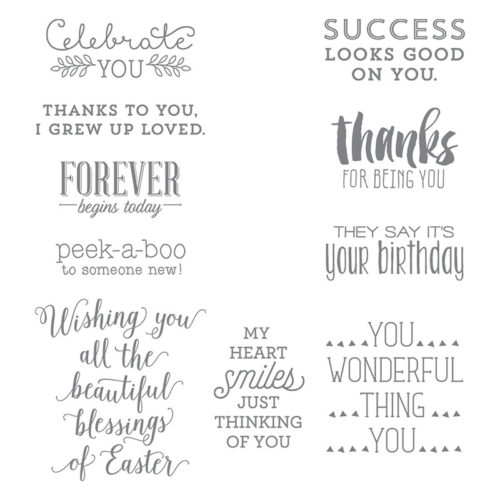 Stampin' Up!, Suite Sayings, stamping