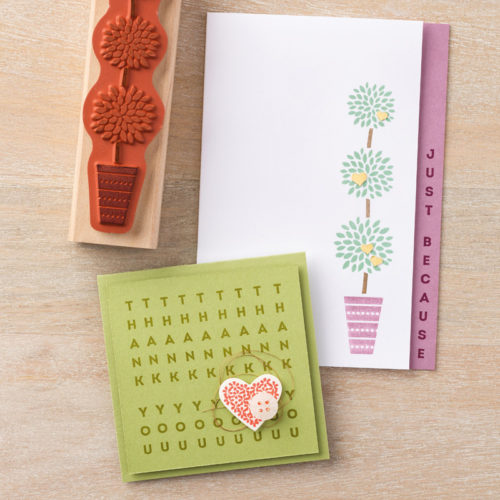 Vertical Greetings Stamp Set by Stampin Up