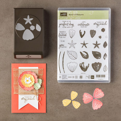 Stampin Up Bunch of Blossoms Builder Punch