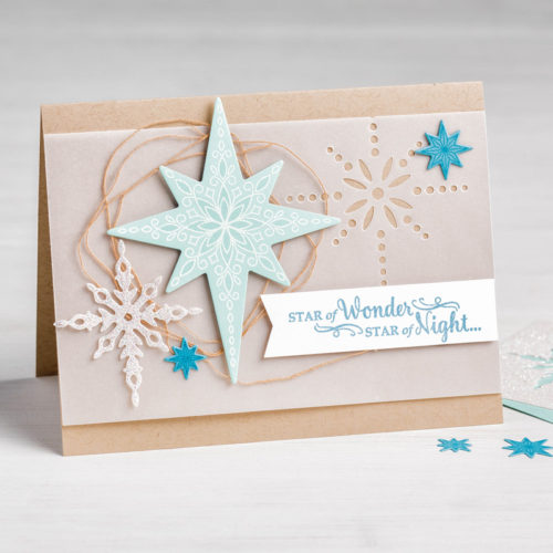 Star of Light Stamp Set Holiday Card