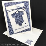 """Classy Baby Card for the """"Cut It Out"""" Blog Hop"""