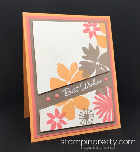Stampin Up Blooms & Wishes Birthday Card Idea - Mary Fish StampinUp