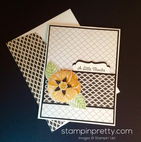 Stampin Up Bunch of Blossoms Thank You cards - Mary Fish Stampinup