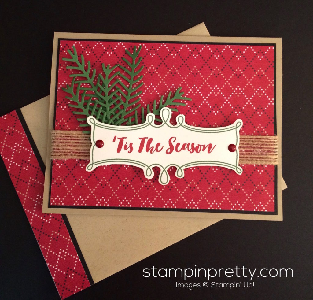 Pretty Pines \'Tis the Season Christmas Card | Stampin\' Pretty