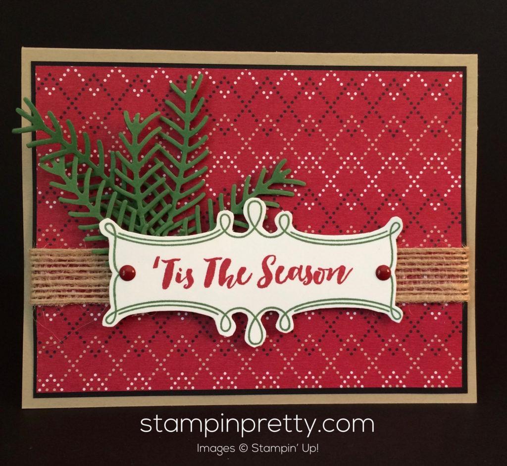 pretty pines tis the season christmas card stampin pretty