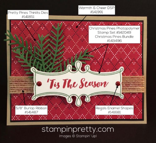 Stampin Up Christmas Pines Holiday cards ideas - Mary Fish stampinup copy