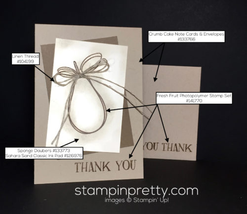 Stampin Up Fresh Fruit Thank You Card Idea - Mary Fish Stampinup