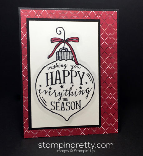 Stampin Up Happy Ornament Simple Christmas Card Ideas - Mary Fish Stampinup