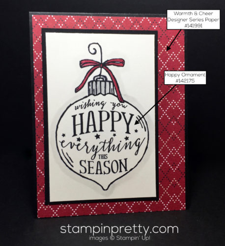 Stampin Up Happy Ornament Simple Christmas Card Ideas - Mary Fish Stampinup copy