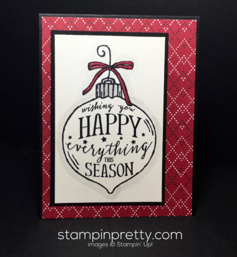 Stampin Up Happy Ornatment Simple Christmas Cards idea - Mary Fish Stampinup