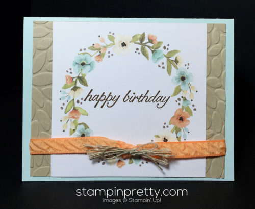 Stampin Up Hello Lovely Project Life Card Birthday Card - Mary Fish Stampinup