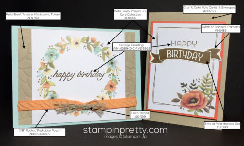 Stampin Up Hello Lovely Project Life Cards Birthday Card Idea - Mary Fish Stampinup