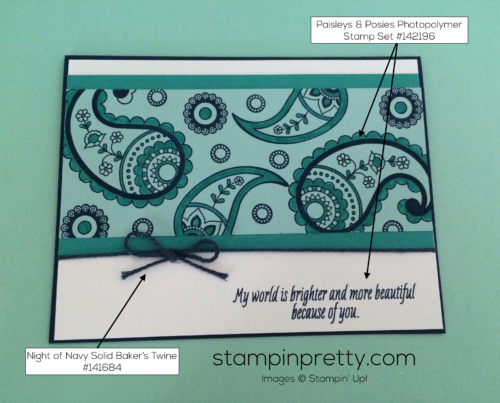 Stampin Up Paisley & Posies Friendship card idea - Mary Fish stampinup