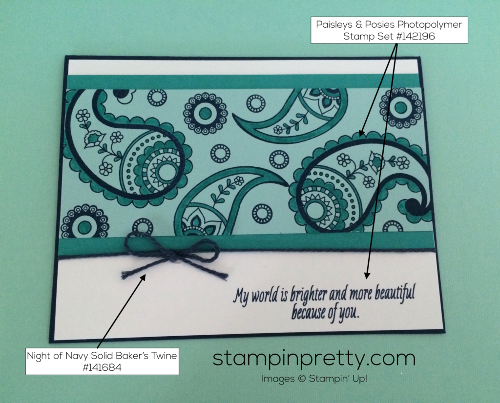 New i 39 m passionate about paisleys posies stampin 39 pretty for Mary fish stampin up