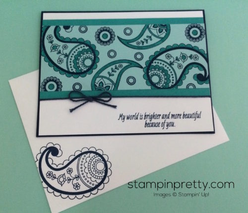 Stampin Up Paisley & Posies Friendship cards idea - Mary Fish stampinup
