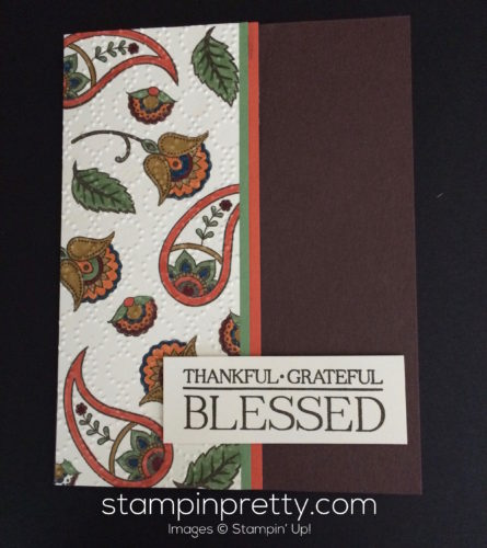 Stampin Up Paisley and Posies Thank you card idea - Mary Fish stampinup