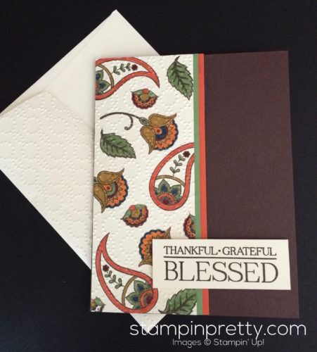 Stampin Up Paisleys and Posies Thank you card ideas - Mary Fish stampinup