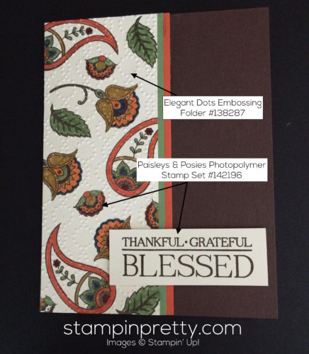 Stampin Up Paisleys and Posies Thank you cards idea - Mary Fish stampinup