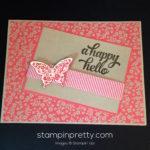 Papillon Potpourri Happy Hello Card