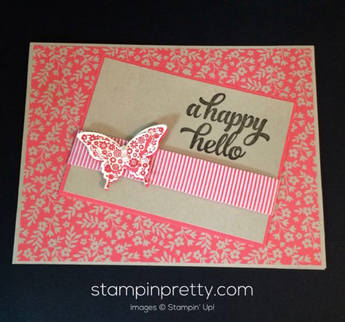 Stampin Up Papillon Potpourri Hello card idea - Mary Fish stampinup