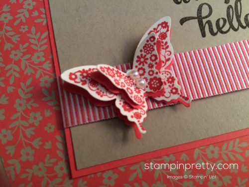 Stampin Up Papillon Potpourri Hello cards idea - Mary Fish stampinup