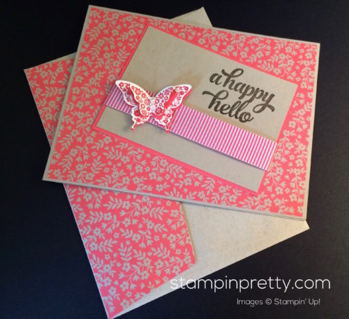 Stampin Up Papillon Potpourri Hello cards ideas - Mary Fish stampinup