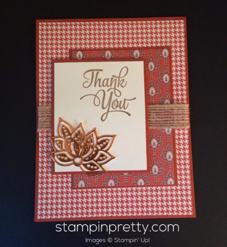 Stampin Up Petals and Paisleys thank you card idea - Mary Fish stampinup copy