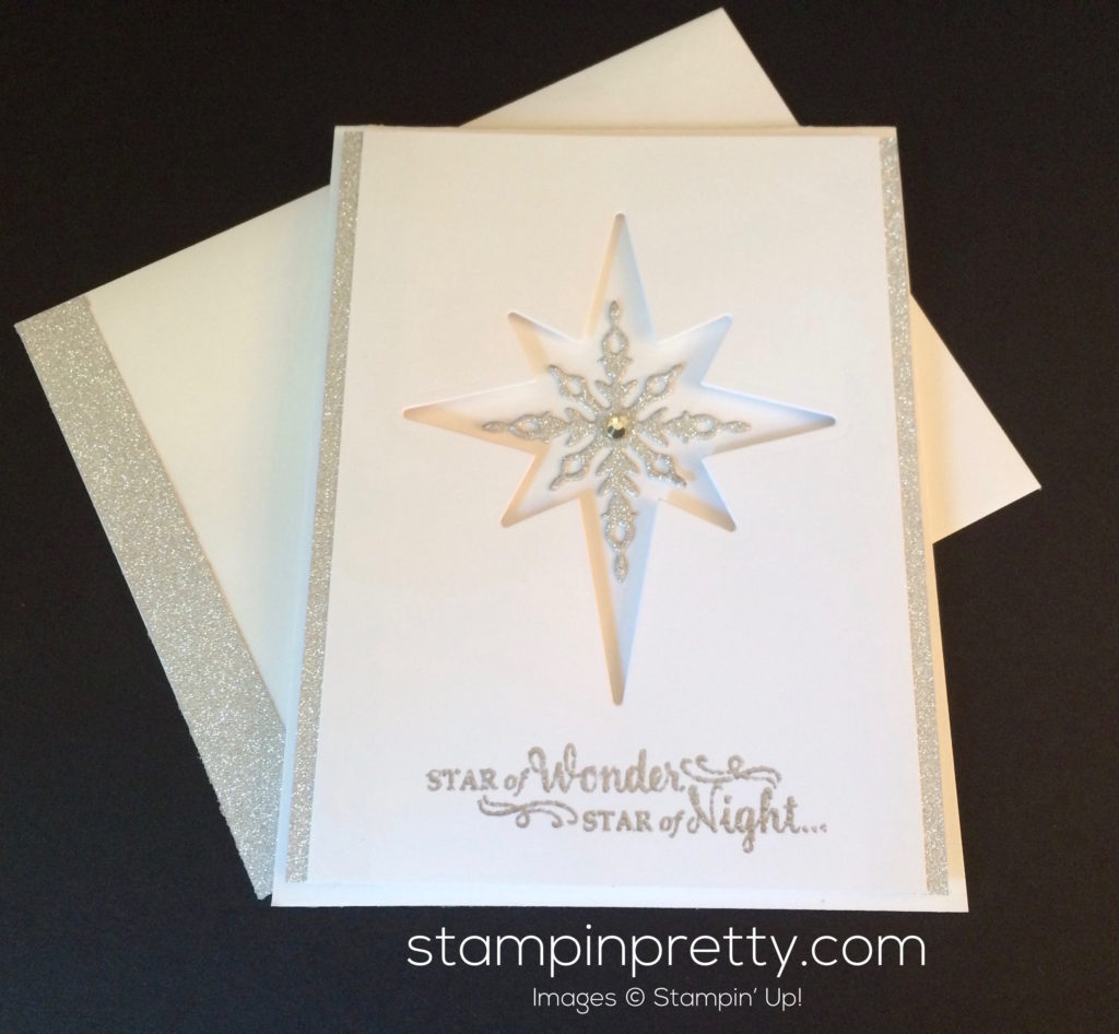 sneak peek star of light christmas card stampin 39 pretty