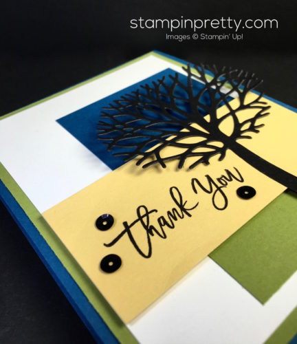 Stampin Up Thoughtful Branches Beautiful Bundle Thank You Card - Mary Fish StampinUp