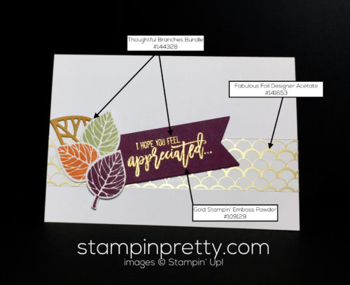 Stampin Up, Thoughtful Branches, Thinking of You ideas - Mary Fish, stampinup