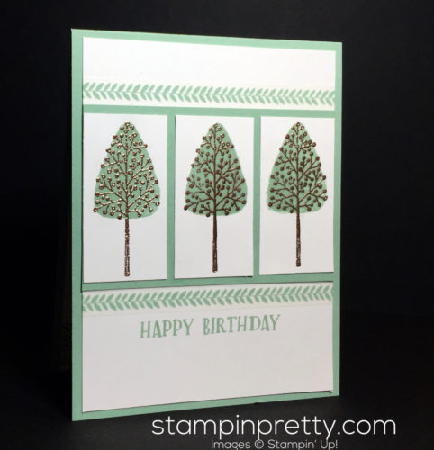 Stampin Up Totally Trees Affectionatly Yours Designer Washi Tape Birthday card idea - Mary Fish Stampinup