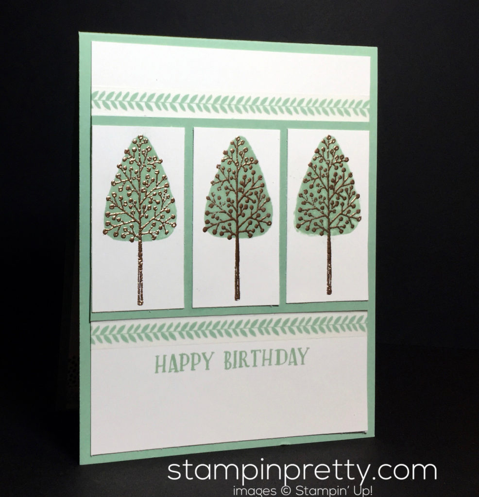 Stampin Up Totally Trees Affectionatly Yours Designer Washi Tape Birthday Card Idea