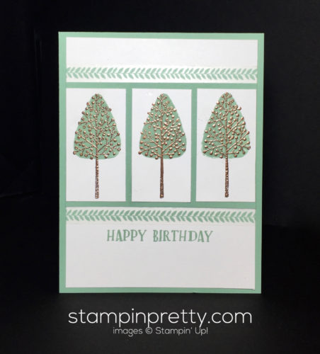 Stampin Up, Totally Trees Birthday card idea - Mary Fish Stampinup
