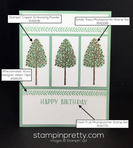 Stampin Up Totally Trees Birthday card idea - Mary Fish Stampinup