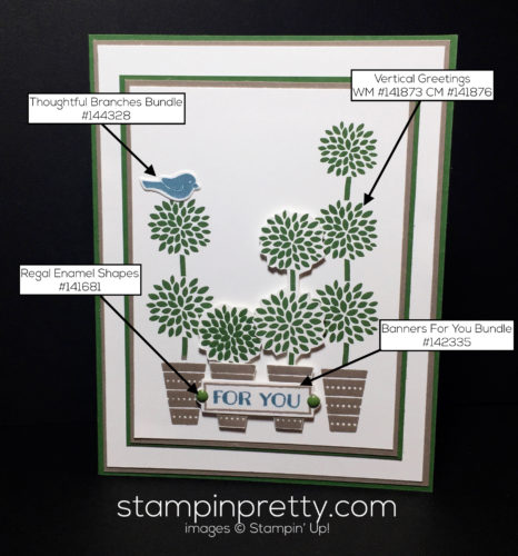 Stampin Up, Vertical Greetings, Birthday card ideas - Mary Fish, stampinup
