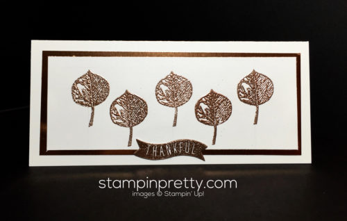 Stampin Up Vinatage Leaves Copper Foil Sheets Holiday card ideas - Mary Fish Stampinup