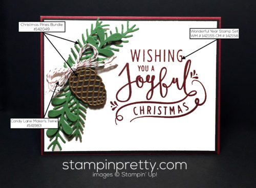 Stampin Up Wonderful Year Christmas card idea - Mary Fish Stampinup