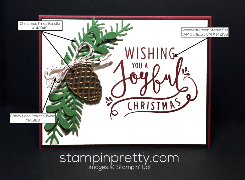 Creating a wow with wonderful year stampin 39 pretty for Mary fish stampin up
