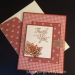 Paisley Thank You Card for Autumn!