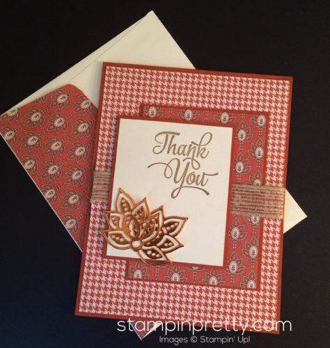 Stampin Up Petals and Paisleys Thank You cards idea - Mary Fish stampinup