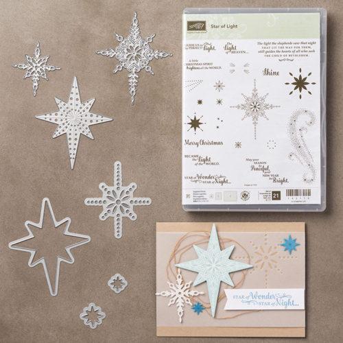 Starlight Thinlits Dies Christmas Card