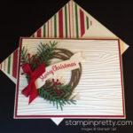 Holiday Wreath Christmas Card Idea