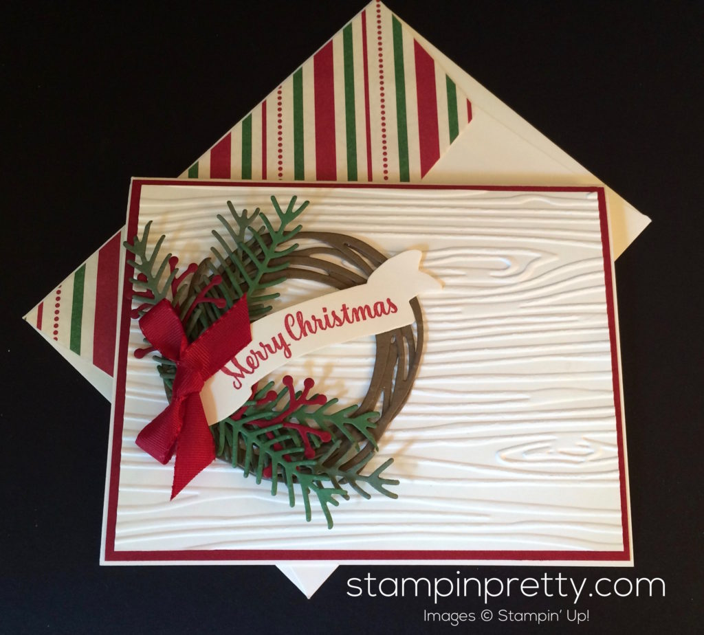 Holiday Wreath Christmas Card Idea | Stampin' Pretty